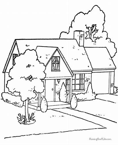 Coloring Pages Printable Houses Fun