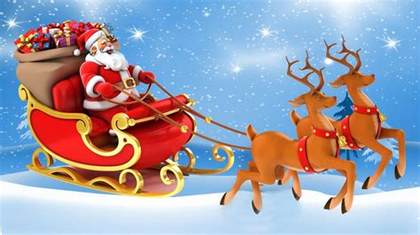 Santa Claus With Reindeers Wallpaper Hd HD Wallpapers Download Free Images Wallpaper [1000image.com]