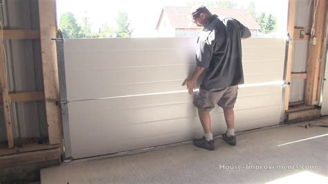 How To Put On Garage Door by How To Install A Garage Door