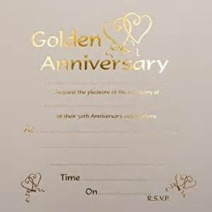 golden wedding anniversary invitations golden wedding anniversary invitations co uk office products