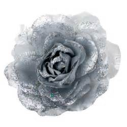 plastic wedding plates silver silk flower on clip 20cm decorations and supplies uk cheap