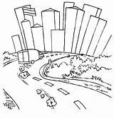 Coloring Pages Skyline Road Roadway Drawing Fast Furious Running Van Chicago Easy Print Template Street Printable Sheets Pittsburgh Getdrawings Dirt sketch template