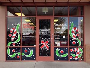 Painted, Christmas, Windows, Phoenix, Az