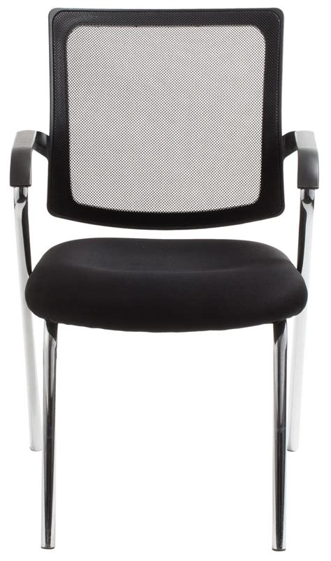 townsville 4 leg black mesh back waiting room chair