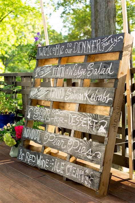 fab  rustic wood pallet wedding