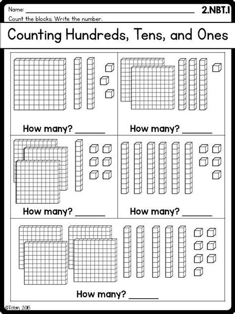 grade math worksheets nbt place  distance