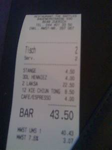 Restaurant Rechnung : 2010 may 24 therealpickygourmet 39 s weblog ~ Themetempest.com Abrechnung