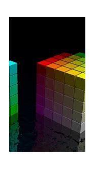 Colorful 3D cubes wallpaper