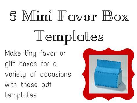 mini favor box tutorials  templates