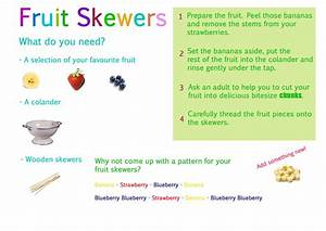 Simple Fruit Skewers Recipe For Use With Little Ones