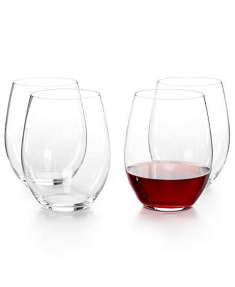riedel barware riedel o cabernet and merlot stemless wine glasses 4