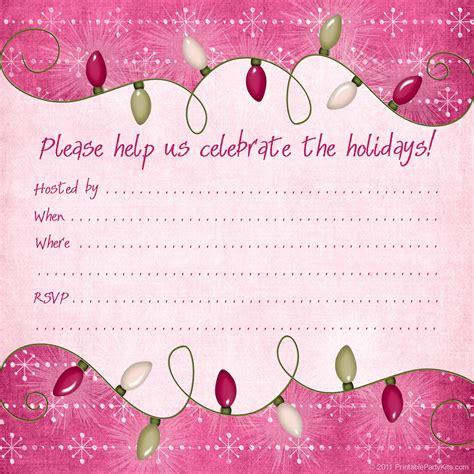free printable christmas invitations template printable kits