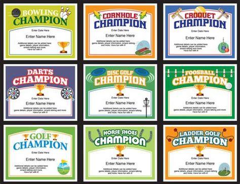 champion certificates templates award certificates