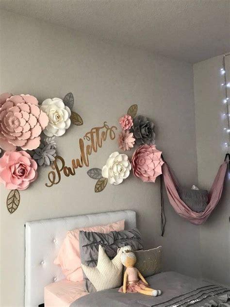 girl room decor wall paper flowers backdrop nursery wall