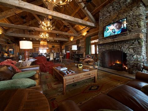 Hunting Lodge Great Room   Living Room   by Reclaimed