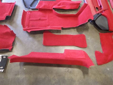 corvette complete red interior seats door
