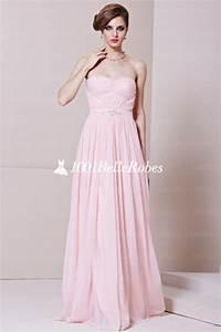 Robe Rose Pale Demoiselle D Honneur : robe de soir e rose pale ~ Preciouscoupons.com Idées de Décoration