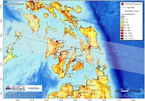Track Of Super Typhoon Haiyan Through The Philippines Area