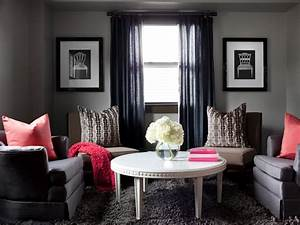 Our favorite color infused living rooms living room and for Gray and red living room