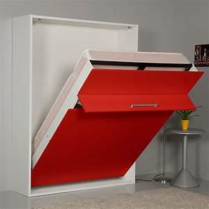 Lit Avec Tv Escamotable : meuble lit escamotable groove ~ Nature-et-papiers.com Idées de Décoration