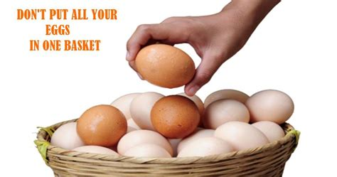 Don't Put All Your Eggs In One Basket  Learn Fluent