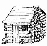 Cabin Log Coloring Clipart Cliparts Clip Drawing Computer Designs sketch template