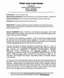 Federal resume template 8 free word excel pdf format for Federal government resume builder
