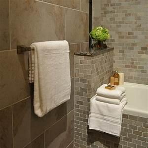 le carrelage mural pour la salle de bain le style et la With carrelage mural pierre salle de bain
