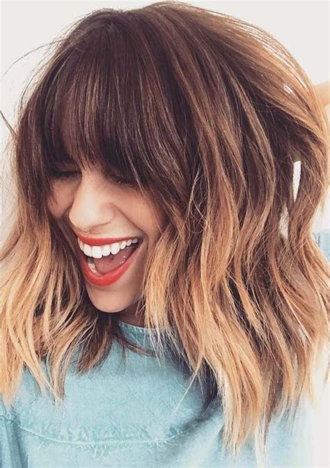 Looking For Best Bangs Haircuts To Sport With Ombre Colors