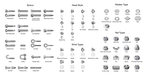 36 Types Of Screws And Screw Heads (ultimate Chart & Guide