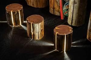 Lampe Aus Baumstamm : baumstamm m bel ausgefallene designer leuchten von duncan meerding ~ Orissabook.com Haus und Dekorationen