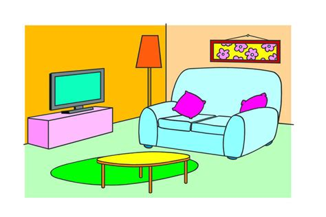 Living Room Clipart by Living Room Clipart For Kid Pencil And In Color Living