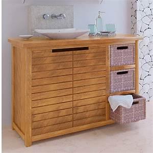 meuble bas salle de bain teck With meuble bain teck