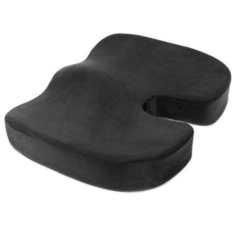 orthopedic memory foam seat cushion for lower back tailbone and sciatica relief support