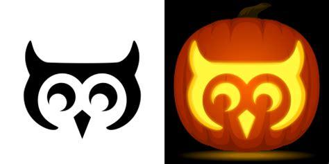 easy owl pumpkin carving stencil   pattern