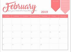 February 2019 Calendar Cute – month printable calendar