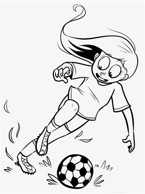 printable soccer player coloring pages realistic