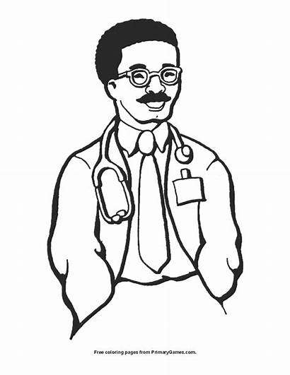 Doctor Coloring Printable Primarygames Smiling Pdf