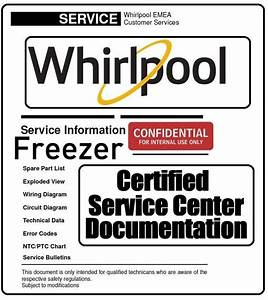 Whirlpool Cf600 T Freezer Service Manual And Technicians
