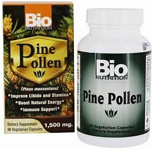 Bio Nutrition Pine Pollen 90 Ct   Fresh Health Nutritions
