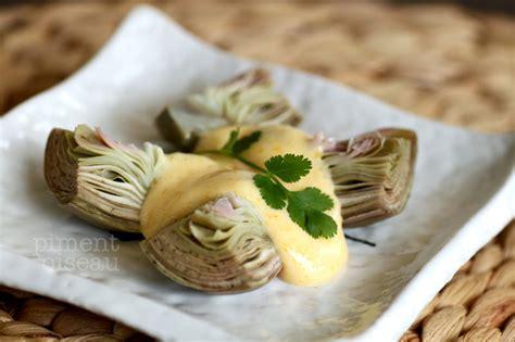 cuisiner artichaut poivrade artichauts poivrade sauce kimizu piment oiseau