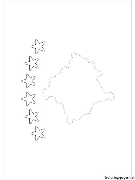 kosovo flag coloring page coloring pages