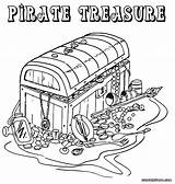 Pirate Coloring Pages Treasure Colouring Chest Printable Adult Colorings Map Template Popular Comments sketch template