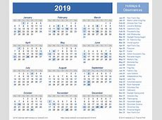 February 2019 Calendar Word monthly printable calendar