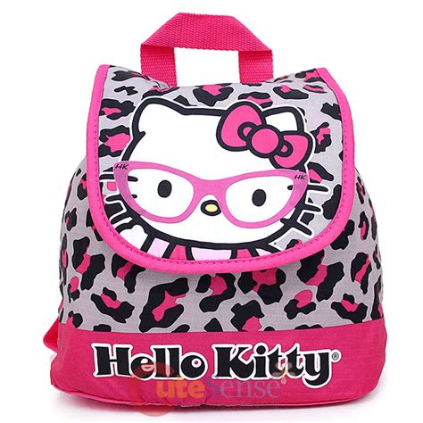 sanrio hello kitty toddler mini backpack loepard 440 | 11513 1
