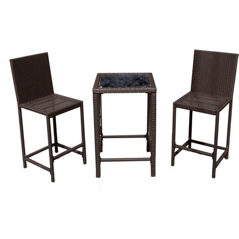 mainstays alexandra square 3 outdoor bistro set