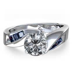 chagne sapphire engagement rings and princess cut sapphire engagement ring in 14k white gold canada