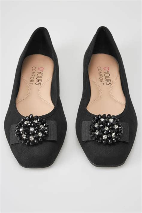 date post jenny template responsive black bead embellished ballerina pumps in eee fit sizes