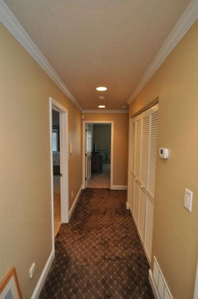 drumm design remodel trim work hallway trim crown