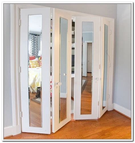Mirror Folding Closet Doors by Amazing Folding Closet Doors For Smart Furniture Ideas